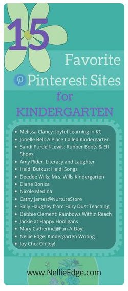 Nellie Edge pinterest for kindergarten teachers