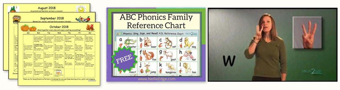 Kindergarten Teacher Resources: Family Learning Calendar to Build Kindergarten Success