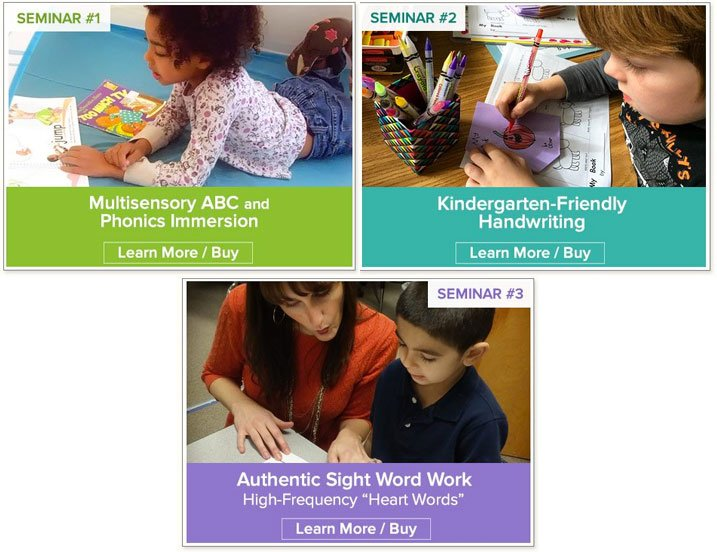 Grow your kindergarten writers: Fingerspelling is a part of all three of Nellie Edge Online Seminars