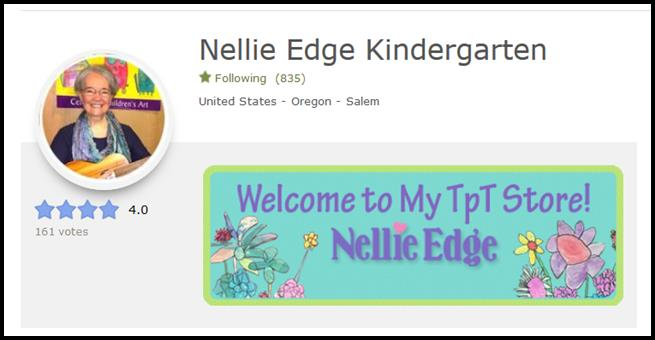 FREE kindergarten and PreK teacher resources on TpT from Nellie Edge.