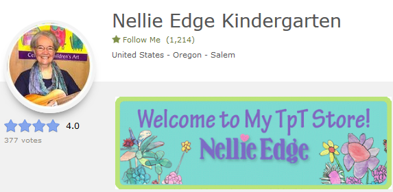 Follow Nellie Edge TPT Store for kindergarten-proven resources Be notified of new resources. Save 50% the first 48 hours!