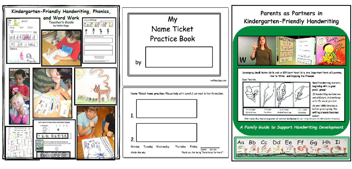 2018 Kindergarten-Friendly Handwriting, Phonics, and Word Work Program: