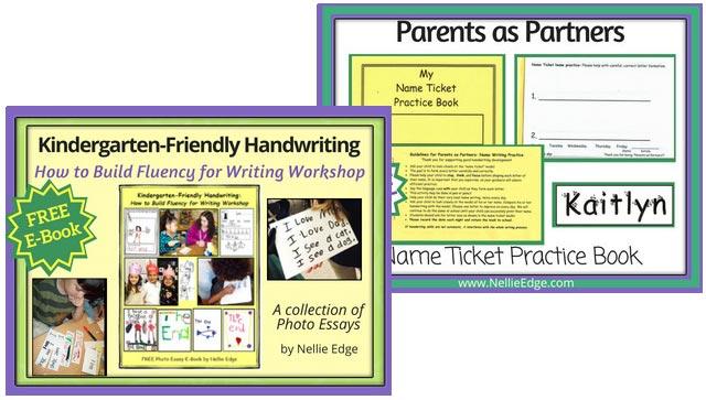 Kindergarten-Friendly Handwriting (FREE E-Book)