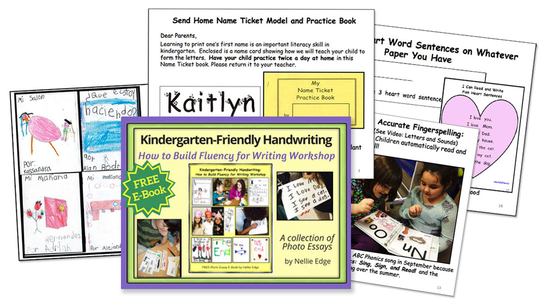 Free E-book: Kindergarten-Friendly Handwriting
