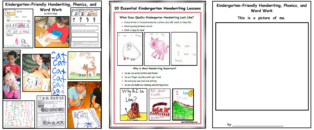 kindergarten handwriting program - Nellie Edge