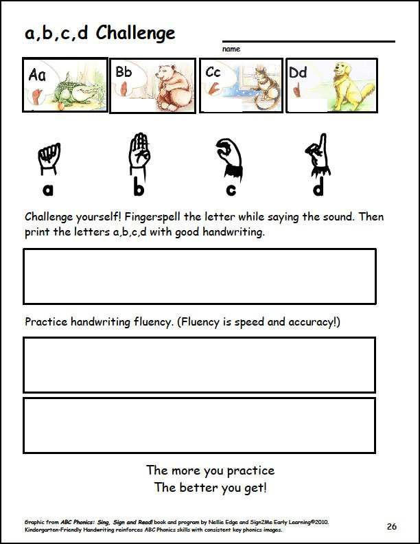 kindergarten handwriting lesson