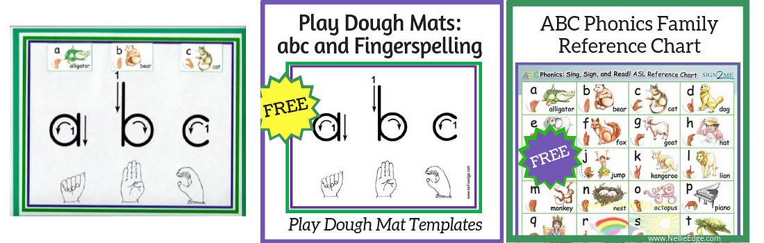 ABC Play Dough Fingerspelling Mats