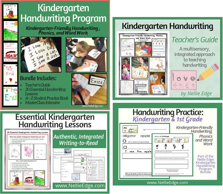 "Essential Kindergarten Handwriting Lessons"""