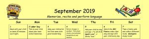 Family Learning Calendar by Nellie Edge- Kindergarten Classroom