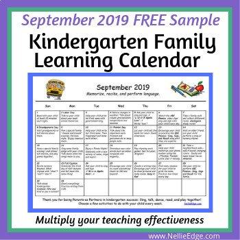 September Family Learning Calendar
