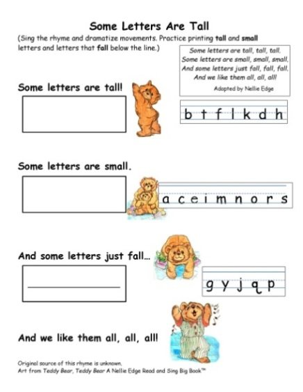 kindergarten handwriting lessons - Nellie Edge