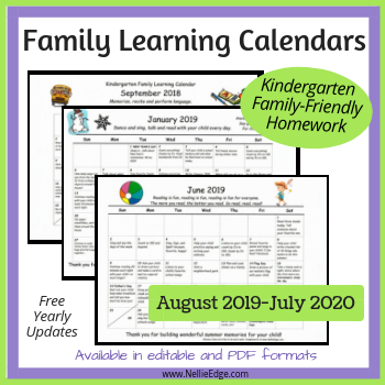 Family-Friendly Homework Calendar