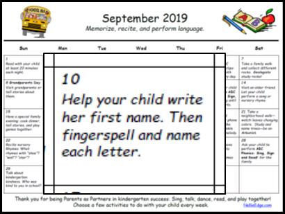 Family-Friendly Homework Calendar