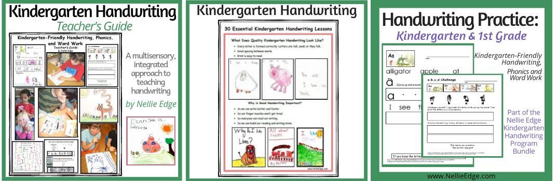 kindergarten handwriting on TpT