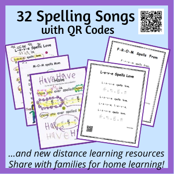 Spelling Songs with QR Codes thumbnail(1)
