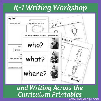 Kindergarten Writing Workshop and Writing Across the Curriculum Printables