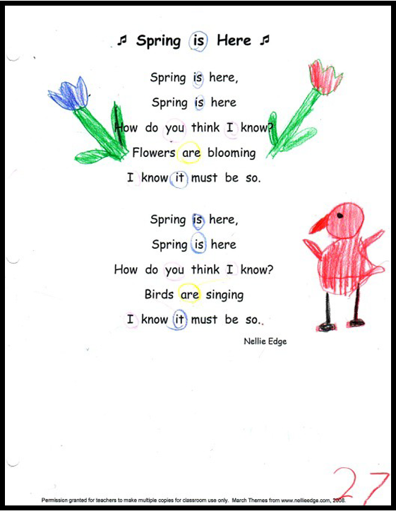 """""""I Can Read"""" Poetry and Song Notebook by Nellie Edge"""