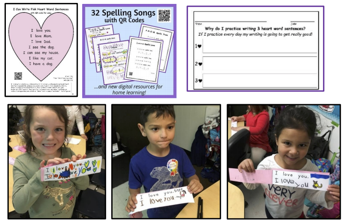 Heart Word Songs with QR Codes